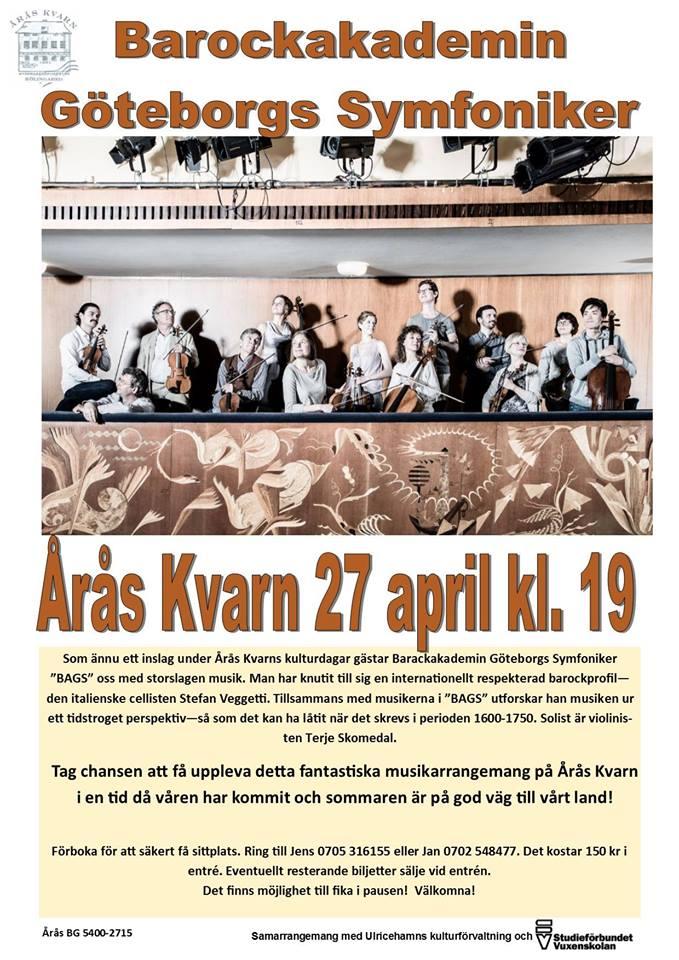 Musikkväll - Göteborgs symfoniker @ Årås kvarn
